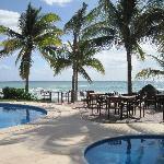 Pool at Aventura Restaurant on site, eat indoors or al fresco
