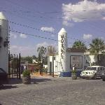 La Aldea entrance from the street. Ancha de San Antonio Avenue