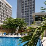 Grand Hotel Kinshasa from Pool Area