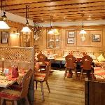 Stube im Restaurant, Hotel Sommer, Fuessen in BAyern