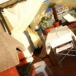 gazebo e barbecue in terrazza attrezzata al superattico