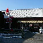 Exterior of Milburn's during the Holidays