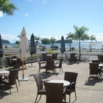Bahia Azul Bar Restaurant with its Large Terrace with Free WIFI overlooking the Bay and Marina