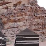 Tälten i Wadi rum