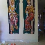 People wearing tebe-tebe wall ornament