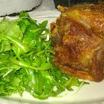 Pork and salad .. what else do you need?