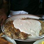Biggest chicken fried steak I have ever seen.