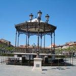 Alcalá, auf der Plaza de Cervantes