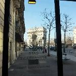 L'Arc from inside Deloren Cafe