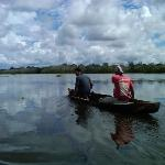 Canoeing on remote Lake