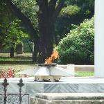 Fire at José Marti's tomb