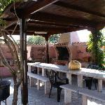 La veranda esterna con il barbecue