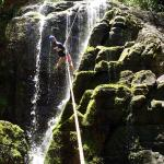 Waterfall rappelling in a tropical paradise!