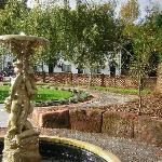 Beautiful ornamental garden with water feature