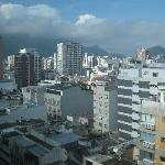 View of Corcovado (surrounded by clouds) from Bedroom
