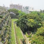 veduta dal balcone verso i giardini interni