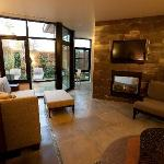Living room area in the Tufa Suite