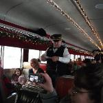Conductor coming by. You can also see what the coach section looks like.