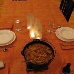 A very special candlelit dinner was prepared for us on our last night by Don & he made our favor
