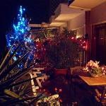 Angolo natalizio in terrazza