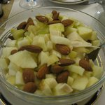 Apples, almonds, heart of palm salad