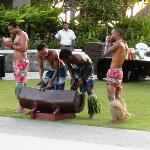 The gorgeous and talented men welcome all to the Polynesian Show and Lovo Dinner.
