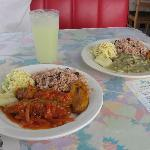 Fish dish and whelk stew