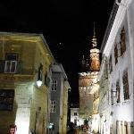 Sighisoara; Casa Cu Serb on the right in the foreground