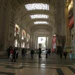The massive Milan Rail Station 250 metres from the Hotel