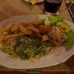 Hähnchenroulade, niva Käse Spinat