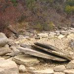 Lake Brownwood shoreline rocks