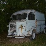 van in the grounds