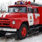 The firemen were friendly and proud of their old machine.