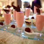 Homemade Strawberry Mousse and Chocolat Truffle