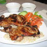 barbecued chicken plate