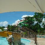 the way to the waterslide