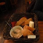 Bread with tuna spread