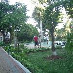 Petit Jardin avec jeu de fer au complexe