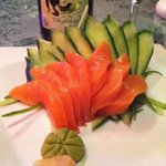 Salmon sashimi!