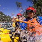 Whitewater splash on the American River