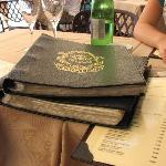 The wine lists...one book for red and one for white wine