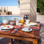 breakfast around the pool