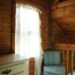 Loft window dresser and chair.