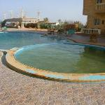 The pool when we arrived