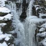frozen waterfall in park