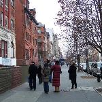 Viewing brownstones on Malcolm X Blvd.