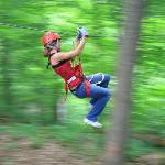 Zipping at Hocking Hills Canopy Tours
