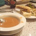 Tomato Pepper Bisque Soup and Panini