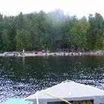 view of the Lodge from our boat