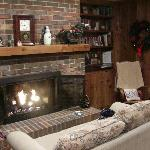 fireplace and bookcases - I could stay here for hours!